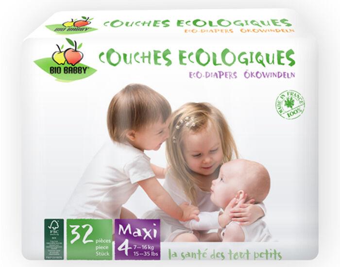 BIO BABBY Couches Écologiques T4 / 7-16 Kg / 32 couches