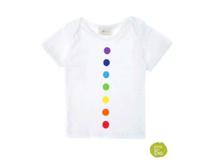 JOYAH T-shirt Bébé Bien-Être avec les Chakras - 100% Coton Bio 18-24 Mois