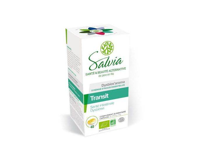 QUESACK SALVIA NUTRITION Dysbios'Aroma Huiles Essentielles Bio 40 Capsules