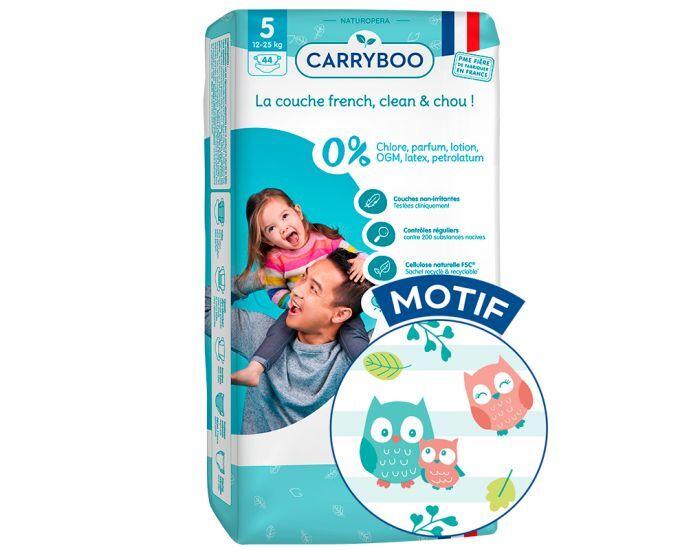 CARRYBOO Couches Écologiques Dermo-Sensitives T5 - 12 à25Kg - 3x44 Couches Mariachi
