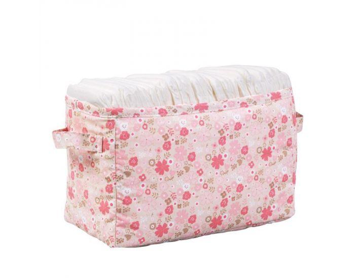 LITTLE CREVETTE Bac à couches rose Mila