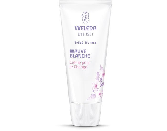 WELEDA Pack Bébé Derma Crème pour le Change à la Mauve Blanche - 50 ml 2 x 50 ml