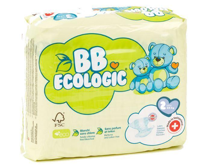 BB ECOLOGIC BB ECOLOGIC Couches Écologiques T2 Mini (3-6kg) - 32 Couches 2 paquets