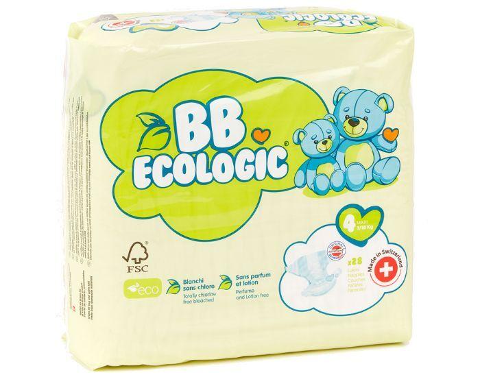 BB ECOLOGIC BB ECOLOGIC Couches Écologiques T4 Maxi (7-18kg) - 28 Couches 1 paquet