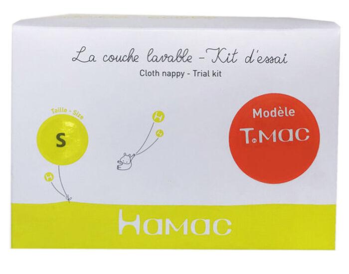 """HAMAC Kit d'Essai Couche Lavable Séparable """"T.MAC"""" - Microfibre - Green Banana S : 4-8 Kg"""