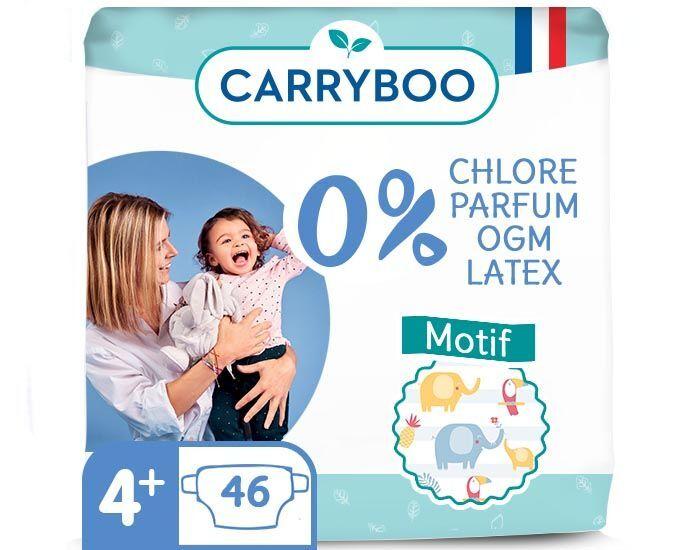 CARRYBOO Pack économique - Couches Ecologiques French, Clean et Chou T4+ / 9-20 kg / 46 couches