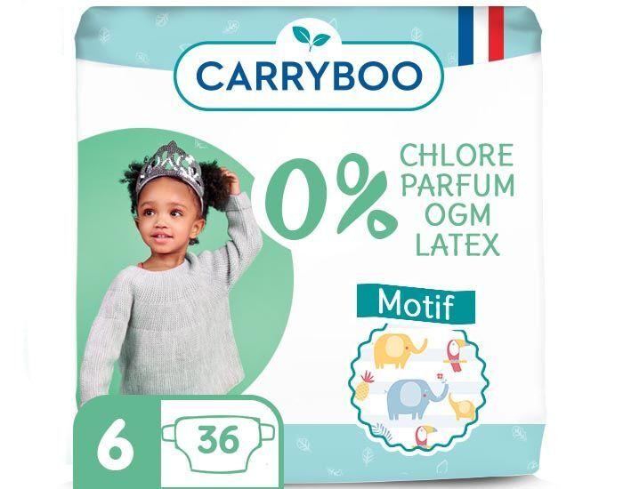 CARRYBOO Pack économique - Couches Ecologiques French, Clean et Chou T6 / 16 - 30 kg / 36 couches