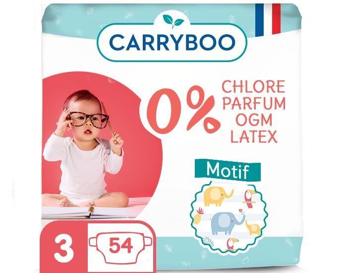 CARRYBOO Pack économique - Couches Ecologiques French, Clean et Chou T3 / 4-9 Kg / 54 couches