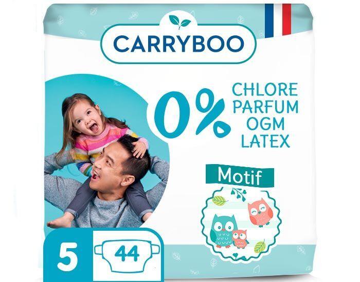 CARRYBOO Pack économique - Couches Ecologiques French, Clean et Chou T5 / 12-25 kg / 44 couches