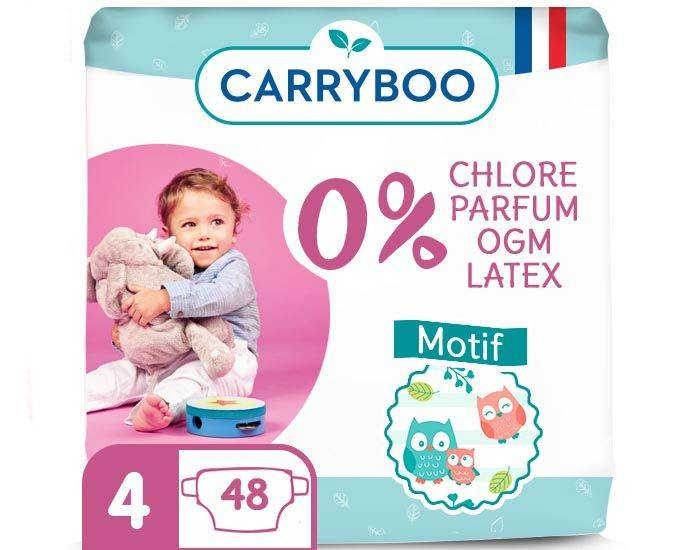 CARRYBOO Pack économique - Couches Ecologiques French, Clean et Chou T4 / 7-18 kg / 48 couches