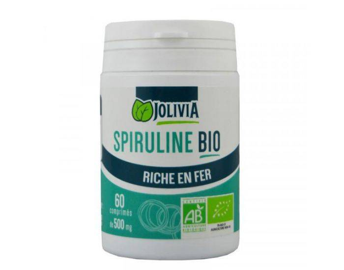 JOLIVIA Spiruline Bio - 60 comprimés de 500 mg