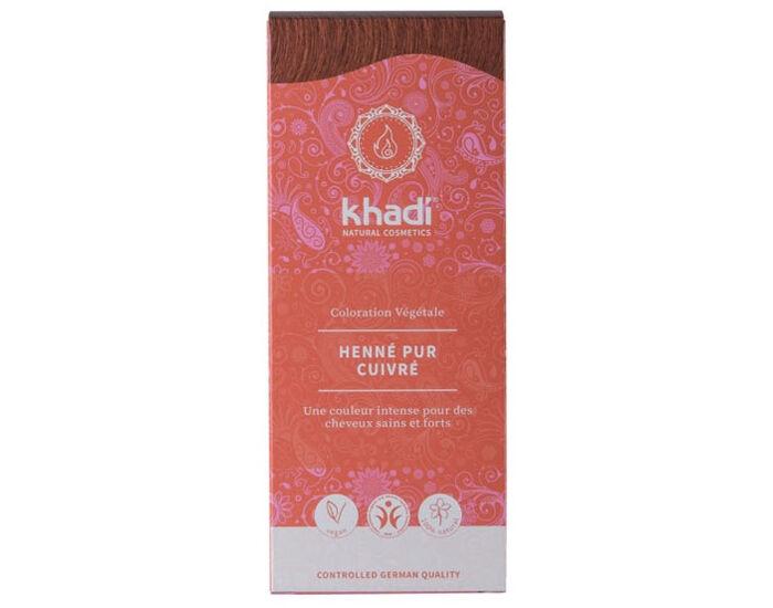 KHADI Coloration Naturelle aux Plantes - Henné Pur Rouge - 100 g