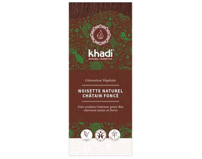 KHADI Coloration Naturelle aux Plantes - Noisette Naturel - 100 g