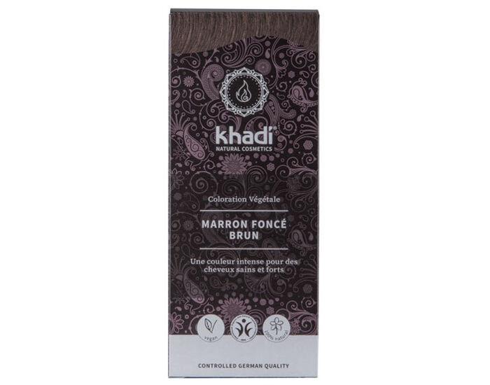 KHADI Coloration Naturelle aux Plantes - Marron Foncé - 100 g