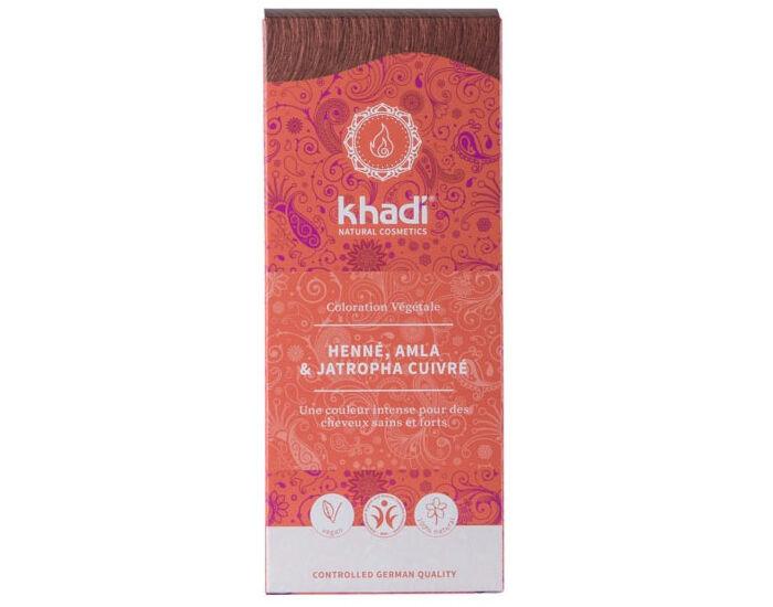KHADI Coloration Naturelle aux Plantes - Henné Amla et Jatropha Rouge - 100 g
