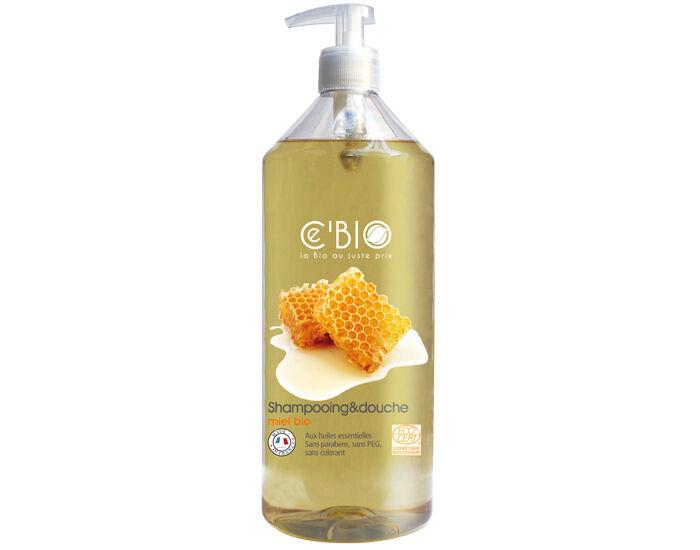 CE'BIO Shampooing Douche Miel - 1 L