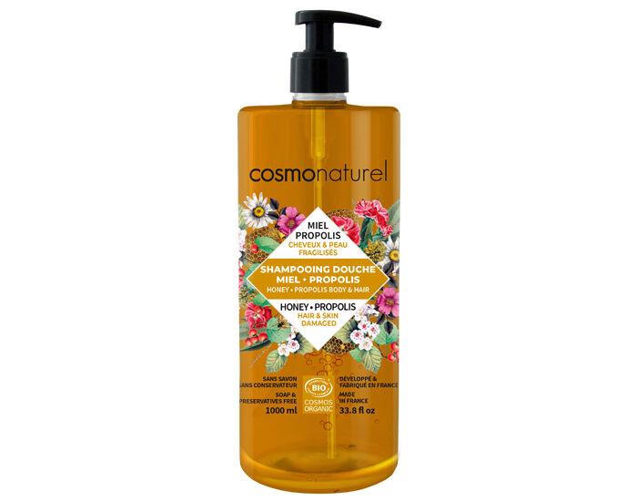 COSMO NATUREL Shampooing Douche Miel Propolis - 1L