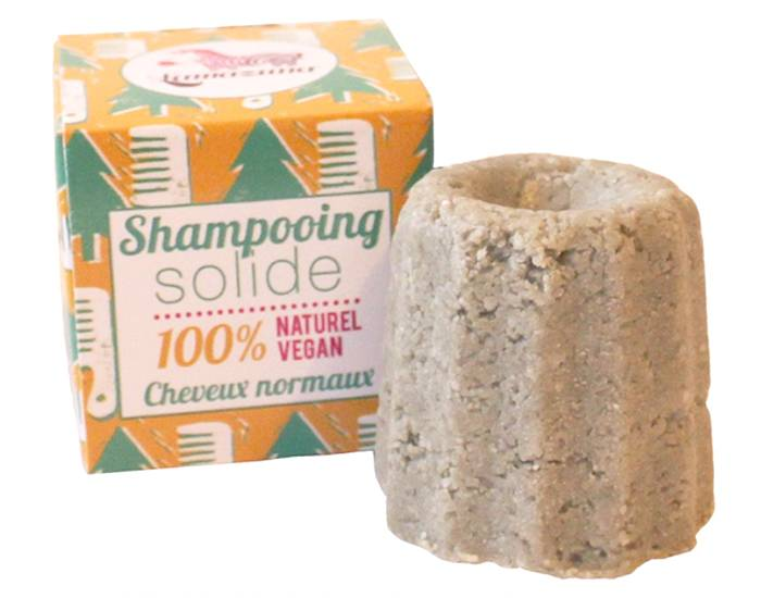 LAMAZUNA Shampooing Solide Cheveux Normaux - Sapin - 55 g