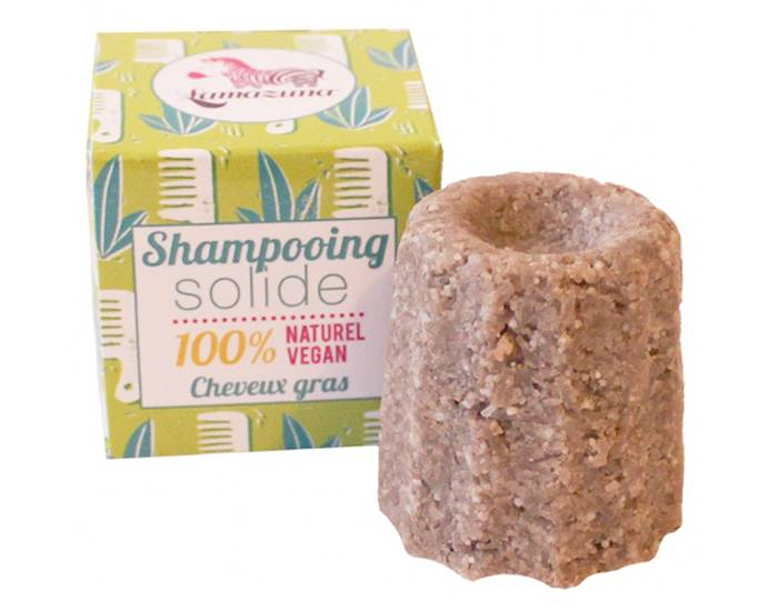LAMAZUNA Shampooing Solide Cheveux Gras - Litsee - 55g
