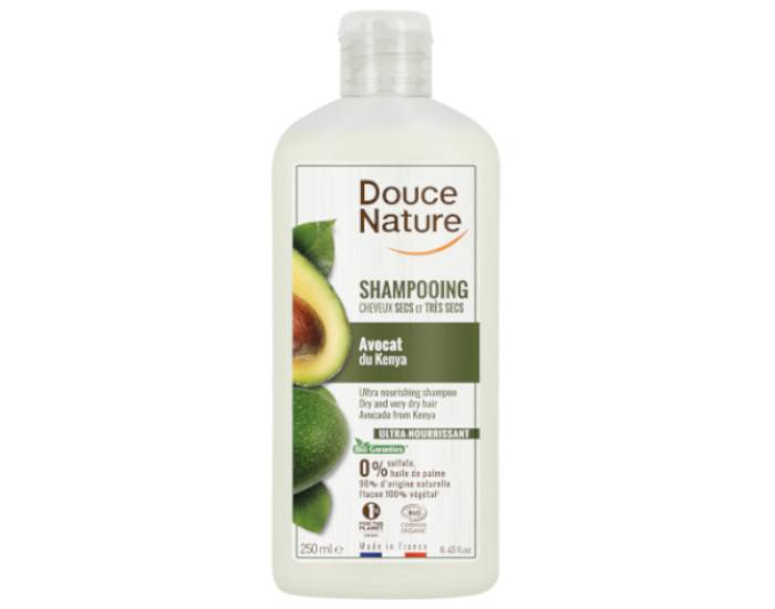 DOUCE NATURE Shampooing Crème Nourrissant Cheveux Secs et Abimés - 300 ml