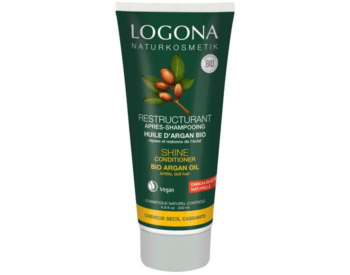 LOGONA Après-Shampooing Brillance et Réparation Argan - 200ml
