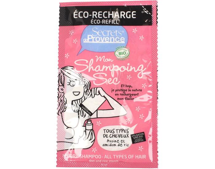 SECRETS DE PROVENCE Shampooing Sec Tous Cheveux - Recharge 38 ml