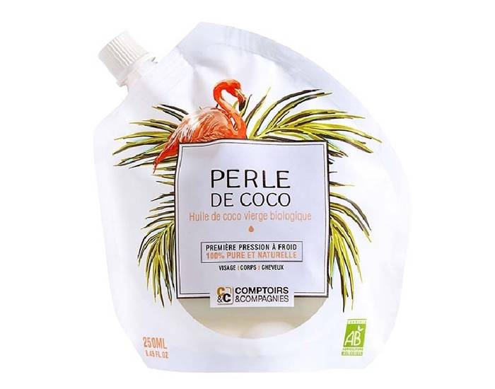 COMPTOIRS ET COMPAGNIES Perle de Coco - Huile de Coco Vierge Biologique - 250 ml