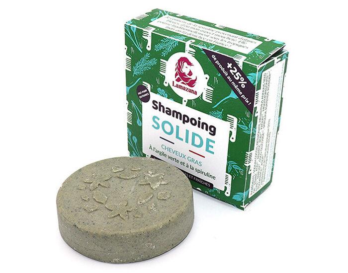LAMAZUNA Shampooing Solide Cheveux Gras - Herbes Folles - 55 g