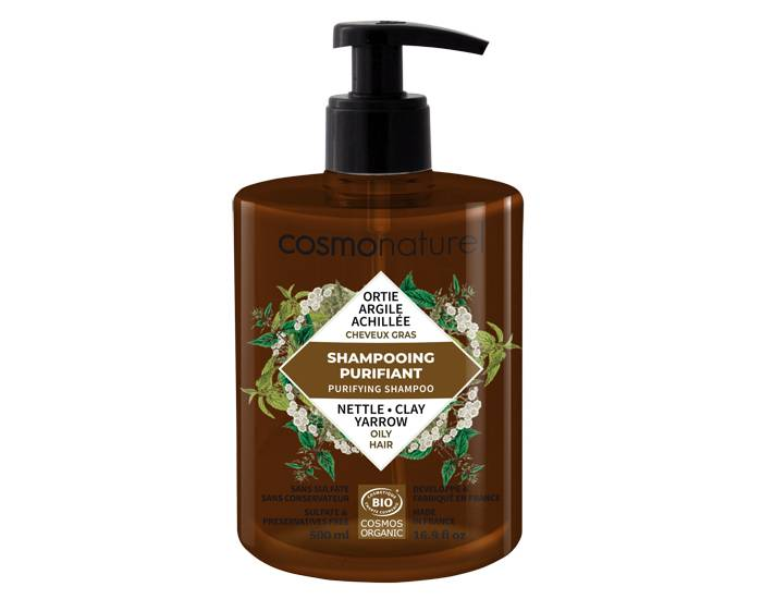 COSMO NATUREL Shampooing Cheveux Gras 500ml