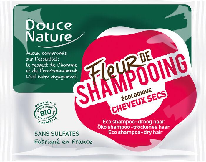 DOUCE NATURE Fleur de Shampooing Cheveux Secs - 80 g