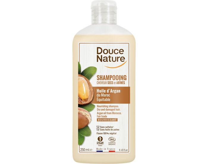 DOUCE NATURE Shampooing Cheveux Secs et Abîmés Huile d'Argan - 250 ml
