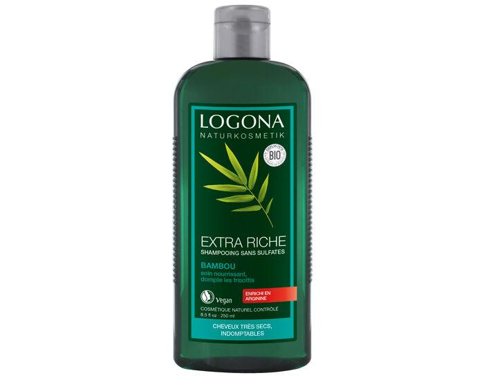 LOGONA Shampooing Crème au Bambou - Cheveux Fatigués - 250 ml