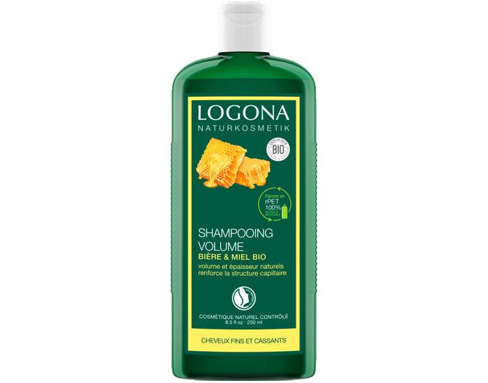 LOGONA Shampooing Volumateur au Miel et à la Bière - 250 ml