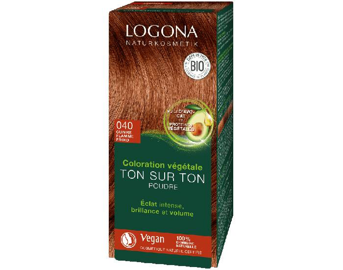 LOGONA Soin Colorant Végétal Cuivre Flamme - 100 g