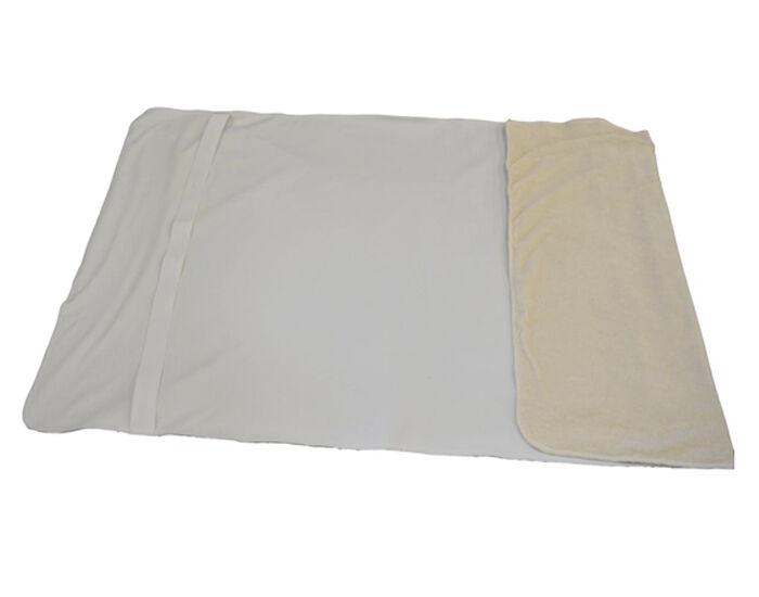 LULU NATURE Alèse Bébé 60x120cm Rabats Elastiques en PUL et Coton Bio Blanc