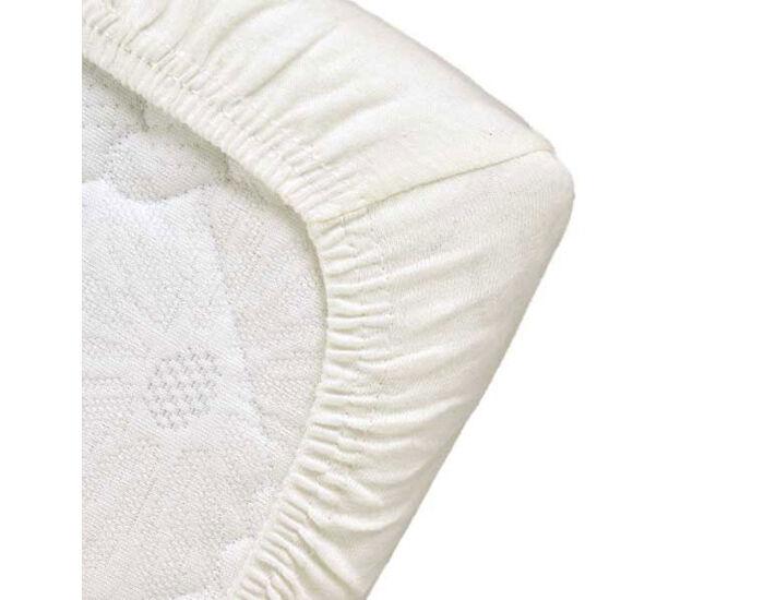 POPOLINI Drap Housse Bébé - 70 x 140 cm - Blanc