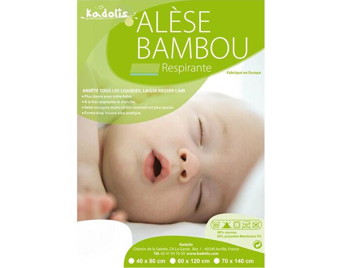 KADOLIS Pack x2 Alèses en Bambou Green Clim pour Lit 70 x 140 cm
