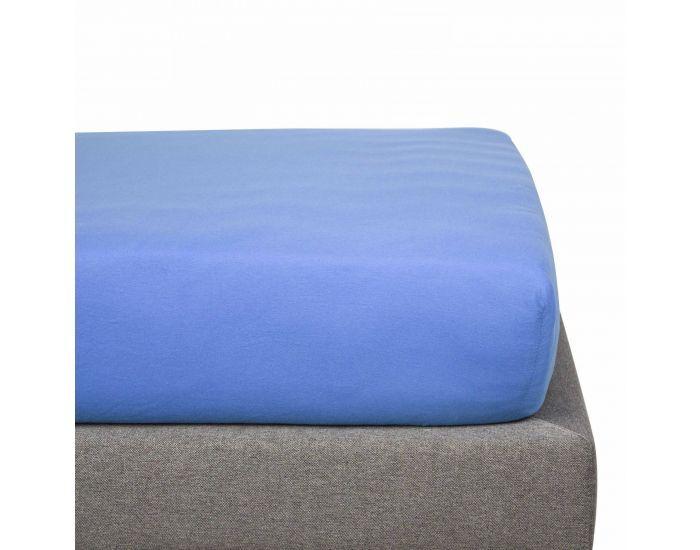 KADOLIS Drap Housse Coton Bio - Enfant Bleu jean 90 x 190 cm