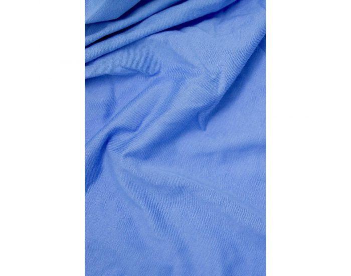 KADOLIS Drap Housse Coton Bio - Enfant Bleu jean 90 x 140 cm