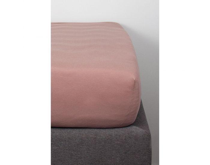 KADOLIS Drap Housse Coton Bio pour lit Bébé - Rose poudré 70 x 140 cm