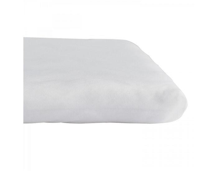 KADOLIS Drap housse COTON BIO - pour lit Bébé Gris clair 60 x 140 cm