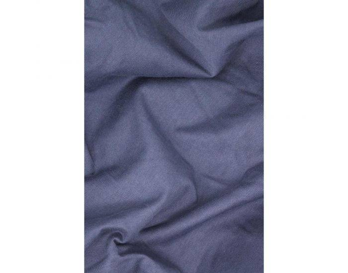 KADOLIS Drap housse COTON BIO - pour lit Bébé Bleu marine 60 x 120 cm