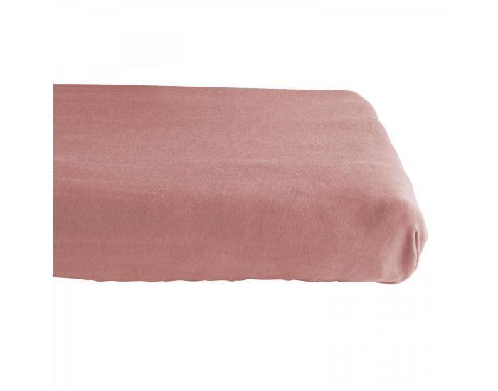 KADOLIS Drap housse COTON BIO - pour lit Bébé Rose poudré 60 x 140 cm