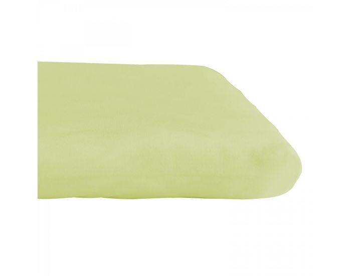 KADOLIS Drap housse COTON BIO - pour lit Bébé Vert anis 60 x 140 cm