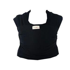 BABYLONIA Tricot-Slen Écharpe de Portage Élastique Coton Biologique Noir