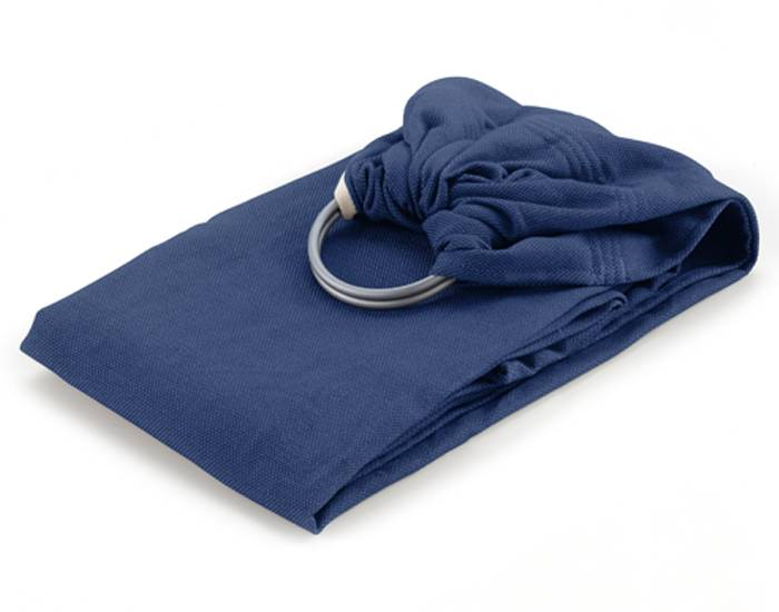 NEOBULLE Sling Echarpe de Portage Tissée avec Anneaux Coton Bio Bleu Frégate