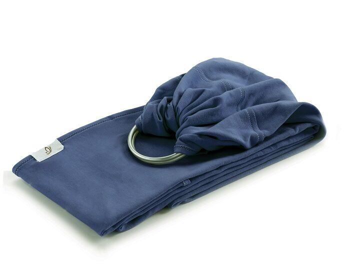 NEOBULLE My Sling Echarpe de Portage avec Anneau Jersey Coton Bio Bleu