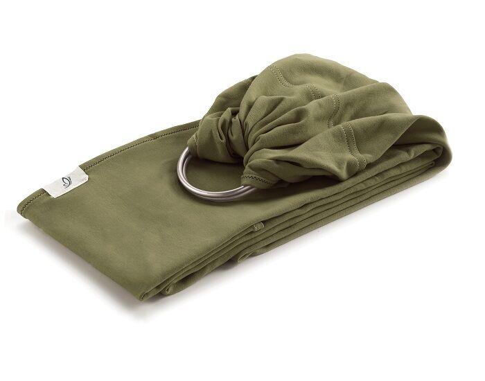 NEOBULLE My Sling Echarpe de Portage avec Anneaux Jersey Coton Bio Vert