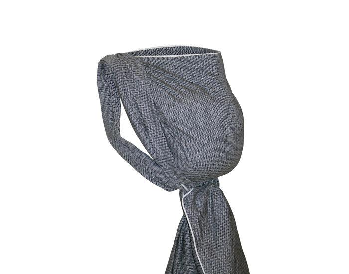 STORCHENWIEGE Écharpe de Portage Léo Noir-Blanc 4,60m