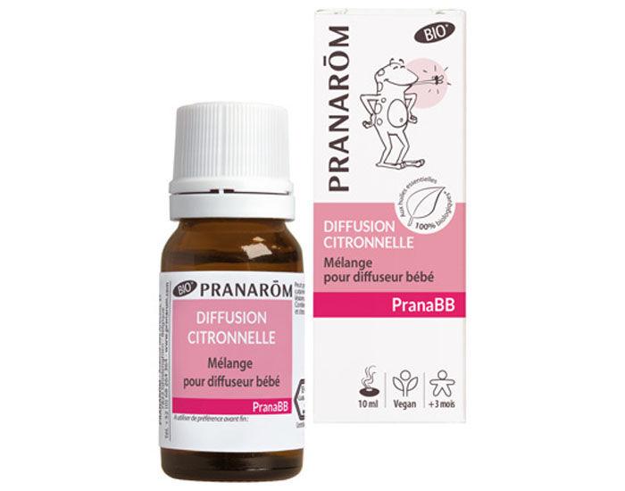 PRANAROM PranaBB - Mélange Bio pour Diffuseur - Diffusion Citronnelle - 10 ml - Dès 3 mois